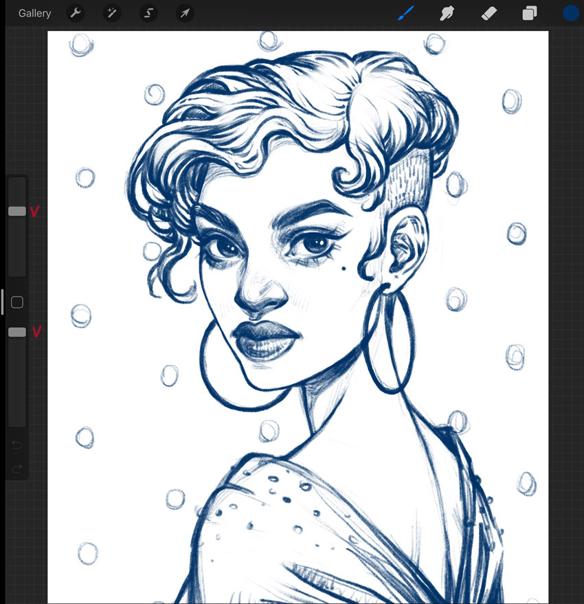 Portrait Procreate Tutorial draw a sketch