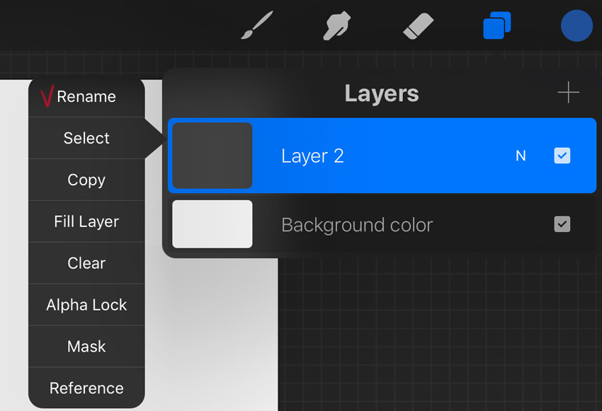 rename new layer