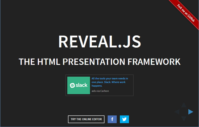 PowerPoint Alternative Revealjs