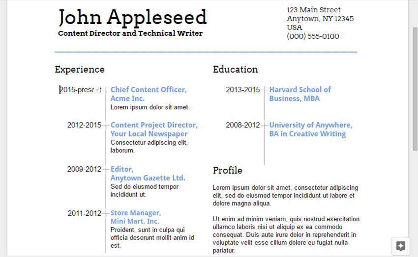 Lovely A Quick Google Docs Resume Preview Of What We Have So Far With Google Docs Resumes