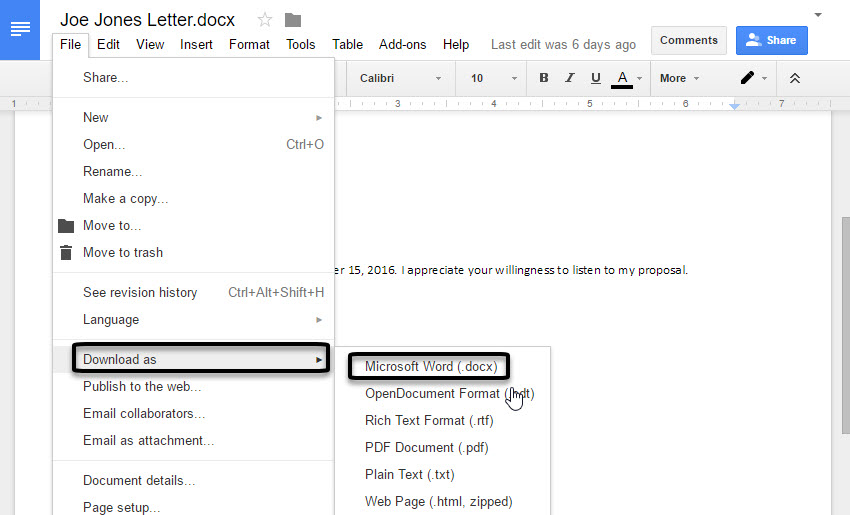 Save Google Doc files offline manually