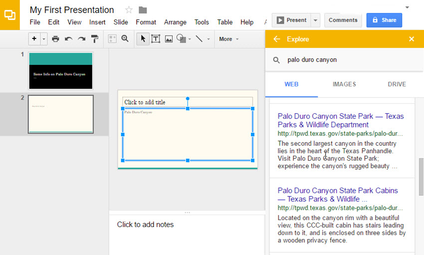 how to use google slides quick start guide