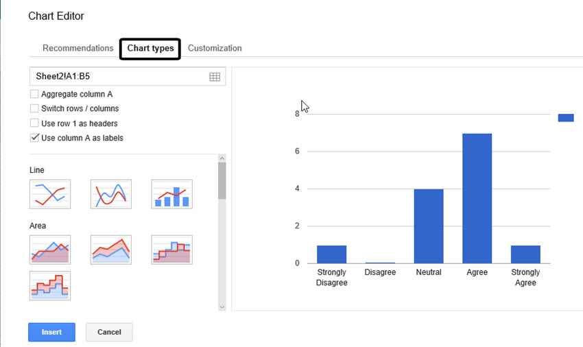 Turn your google docs form responses into beautiful visualizations in the chart editor choose your graph or chart type from the chart types tab ccuart Image collections