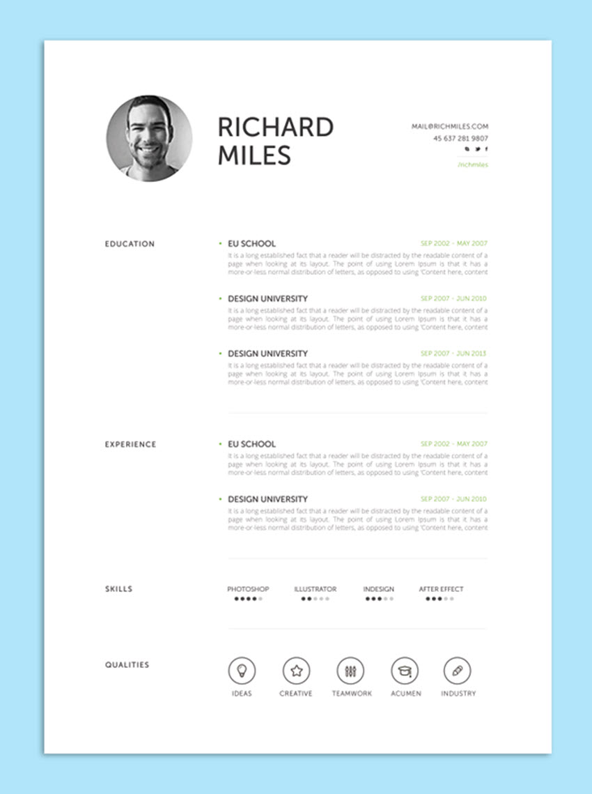 Structured Resume Template