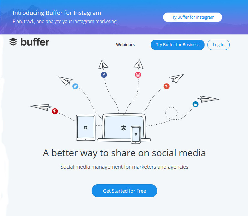 Buffer Social Media Productivity App