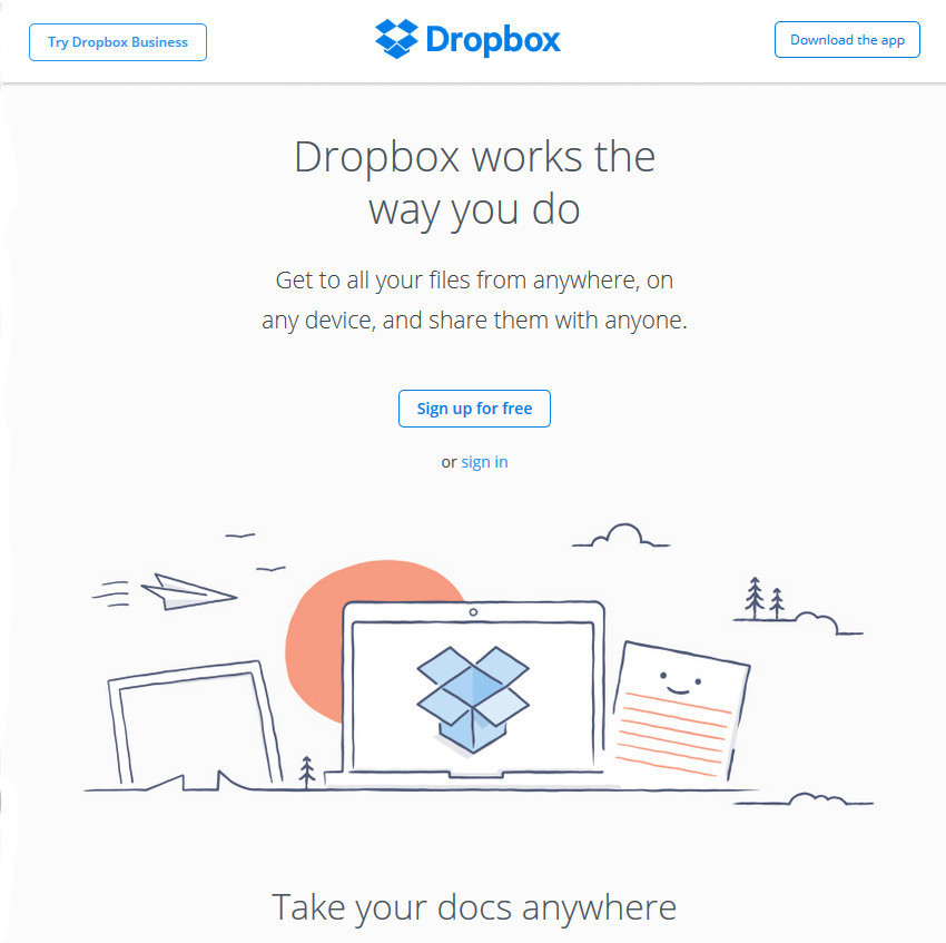 Dropbox Best File Sharing Work Produtivity App
