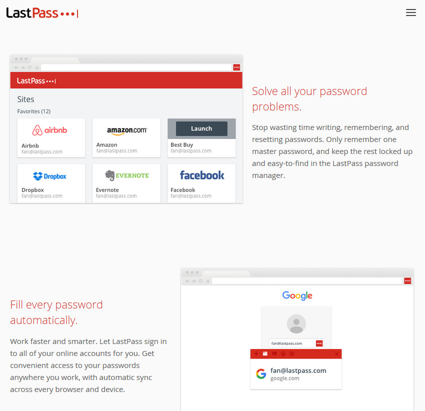 LastPass Password Saving Productivity App