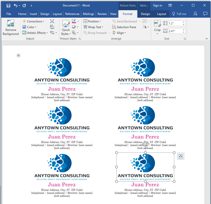How to make your own business cards in word insert your logo image colourmoves
