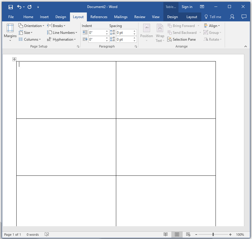 How to make your own business cards in word document results with mutliple business card tables colourmoves