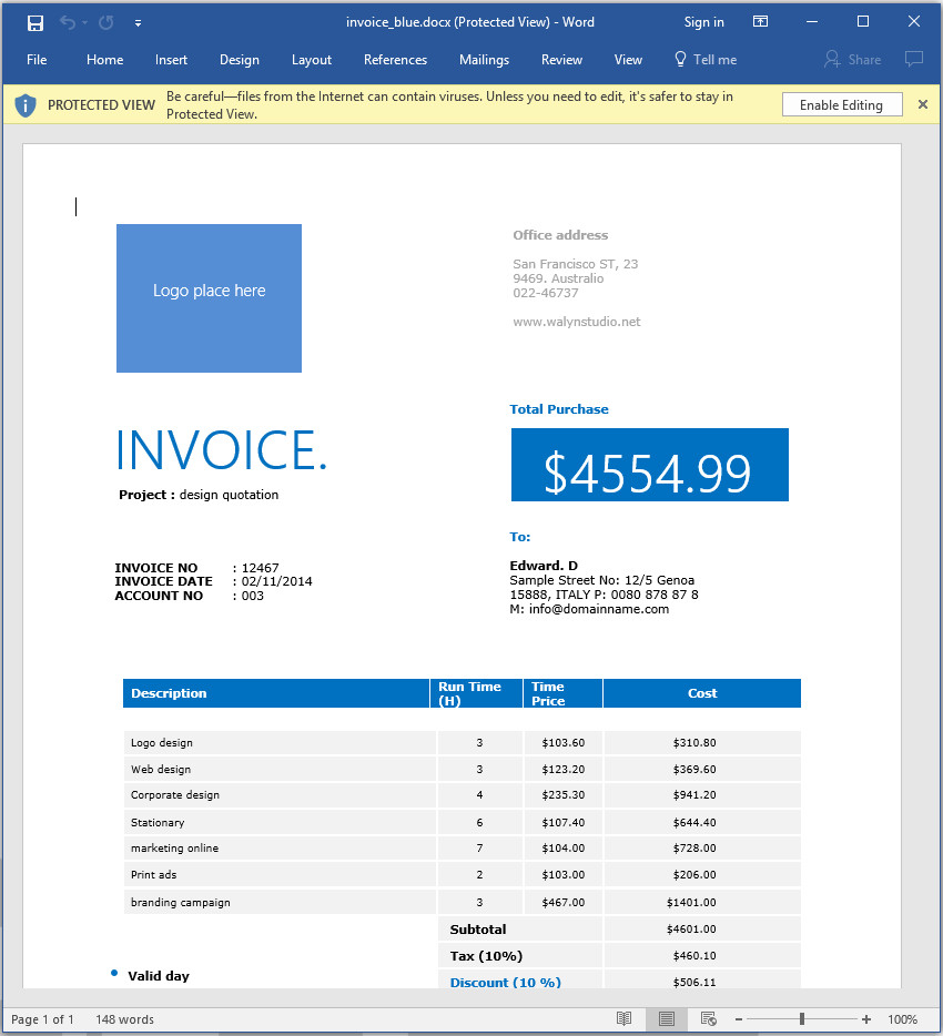 create an invoice template in word  How to Make an Invoice in Word: From a Professional Template