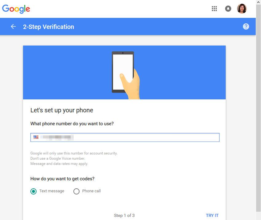 2-Step Verification questions