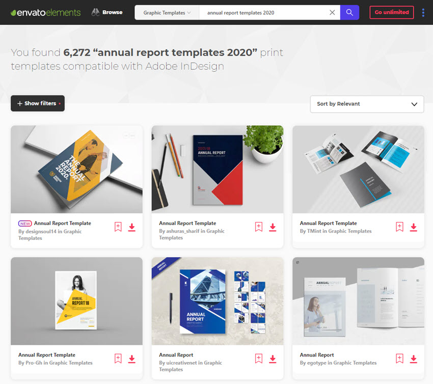 Indesign Report Template on Envato Elements for 20202021