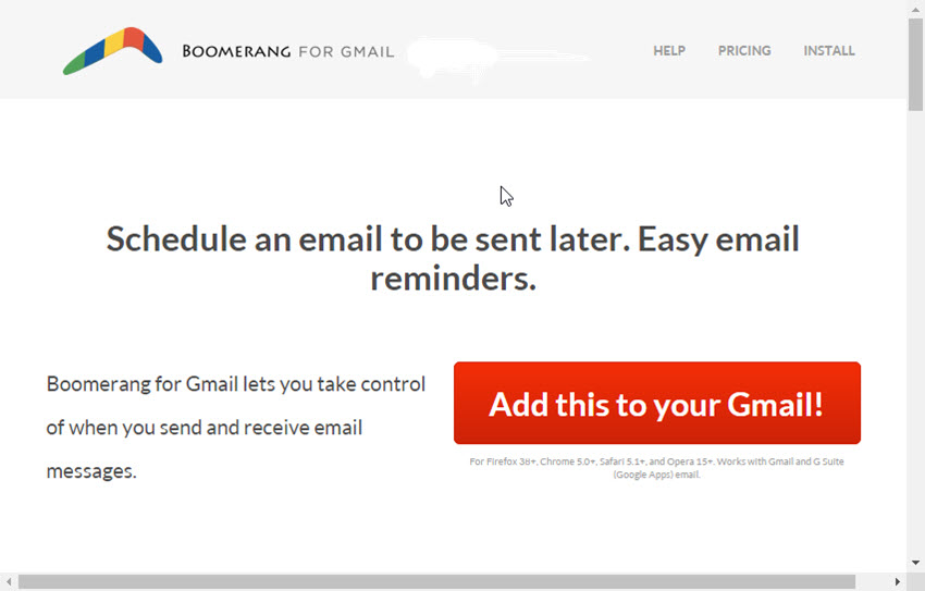 Boomerang for Gmail Addon