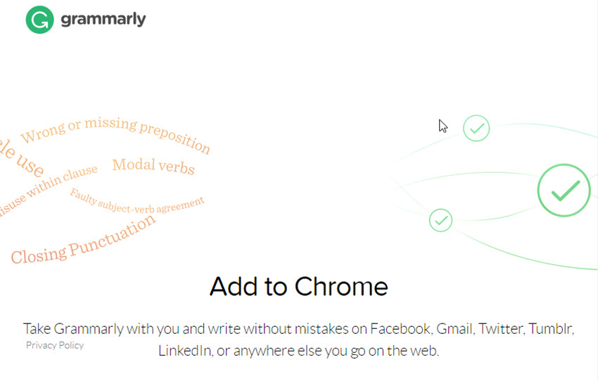 Grammarly Chrome Gmail add-on
