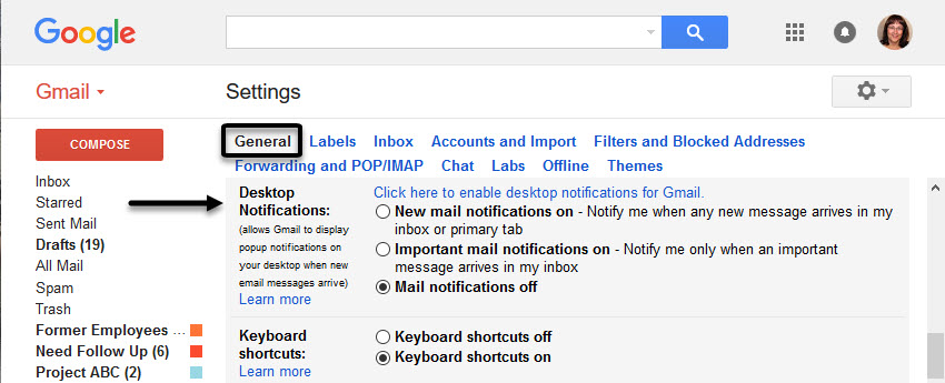 Gmail notifications