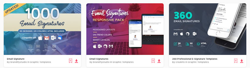 Responsive Email Signature Templates on Envato Elements for 2020