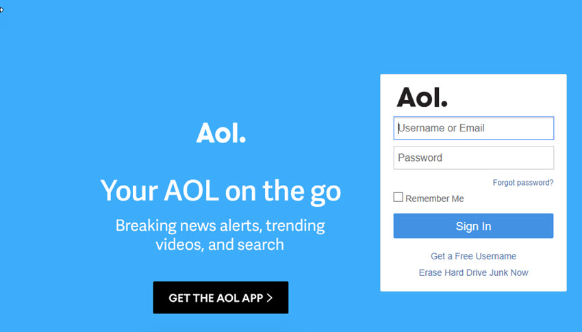 Sign up for AOL Mail email account