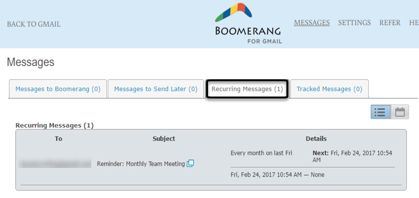 Manage scheduled messages
