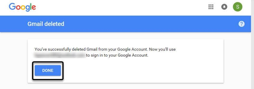 Gmail deleted screen