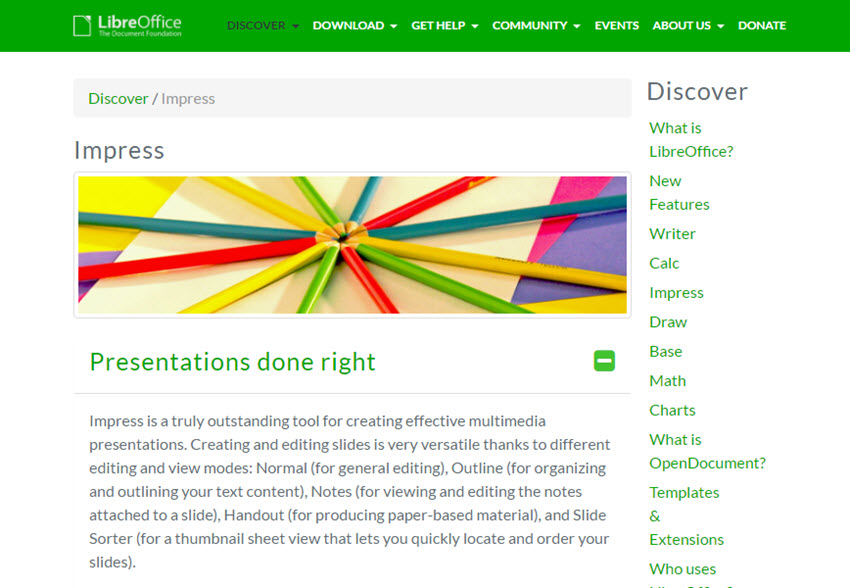 Professional Presentation Software - LibreOffice Impress
