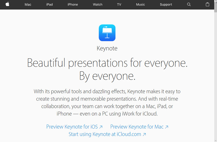 Professional Presentation Software - Keynote