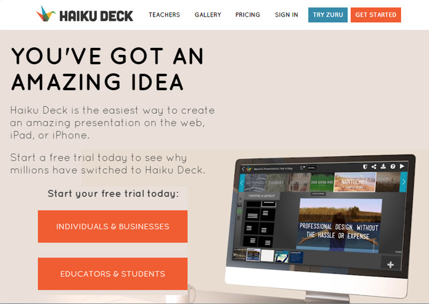 Professional Presentation Software - Haiku Deck