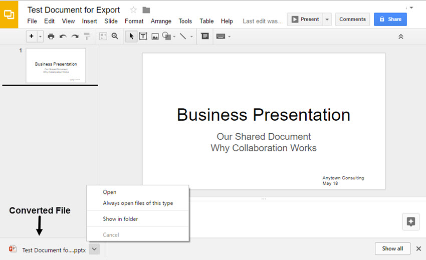 How to Convert Google Slides to PowerPoint Presentations on