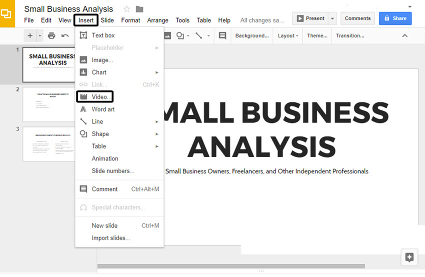 how to add music sound to google slides presentations