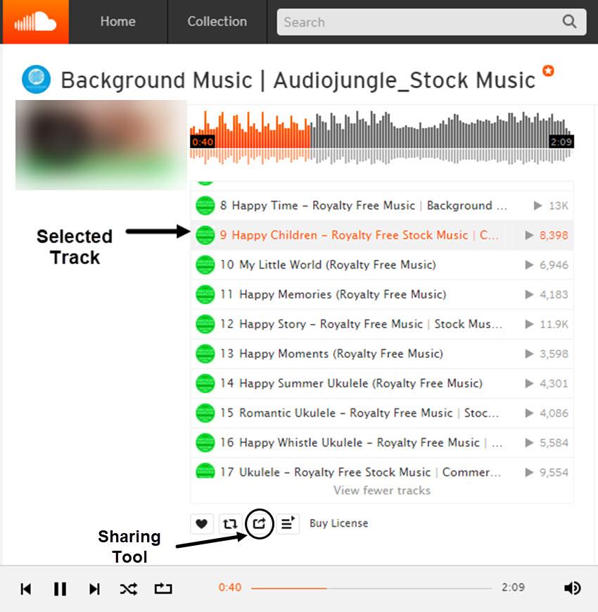 SoundCloud Music Tracks