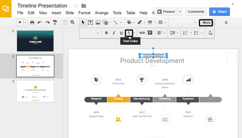how to make a timeline on google slides with templates, Powerpoint templates