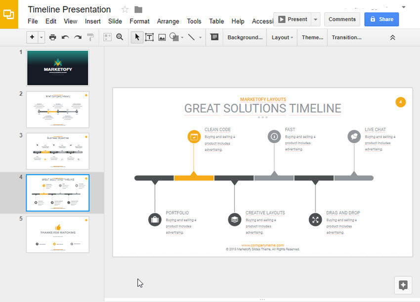 Google Slides Timeline Template 3