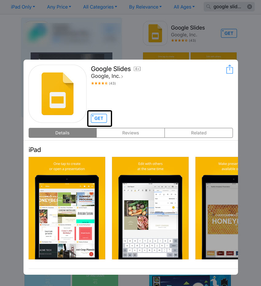 Download Google Slides App