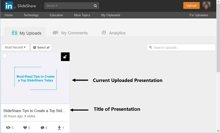 How to Upload Your SlideShare Slides to Share on LinkedIn