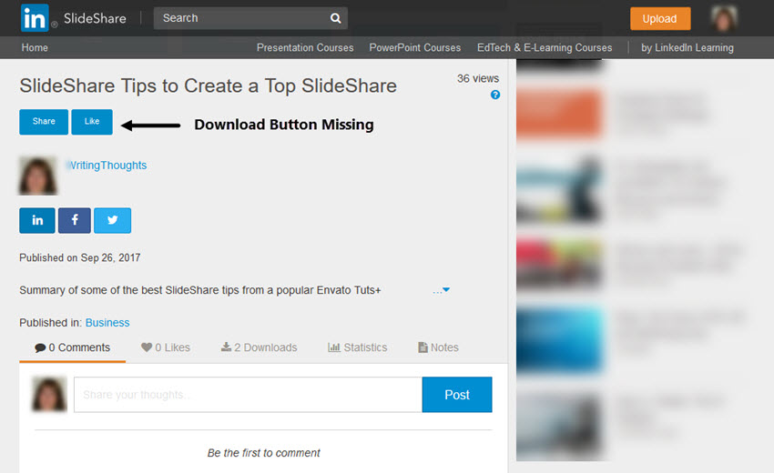 SlideShare with No Download button