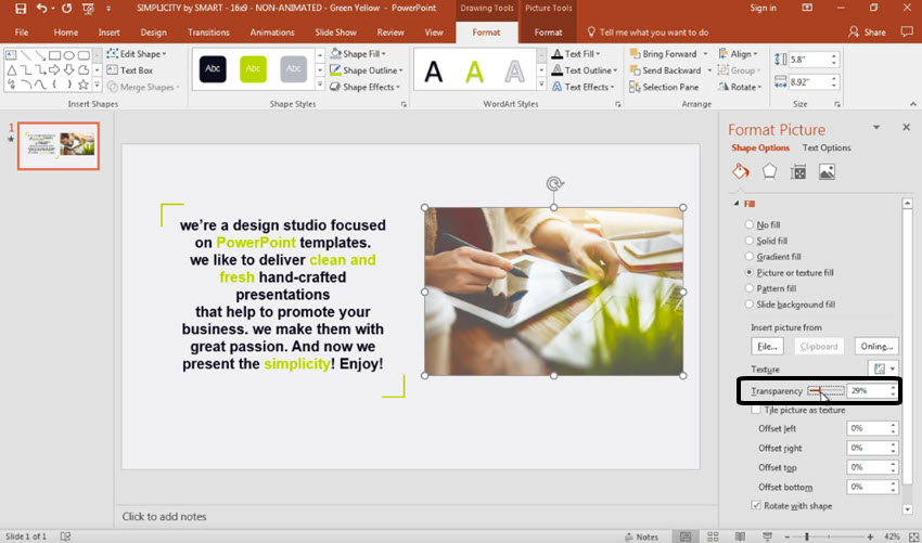How to make image transparent in powerpoint 2007