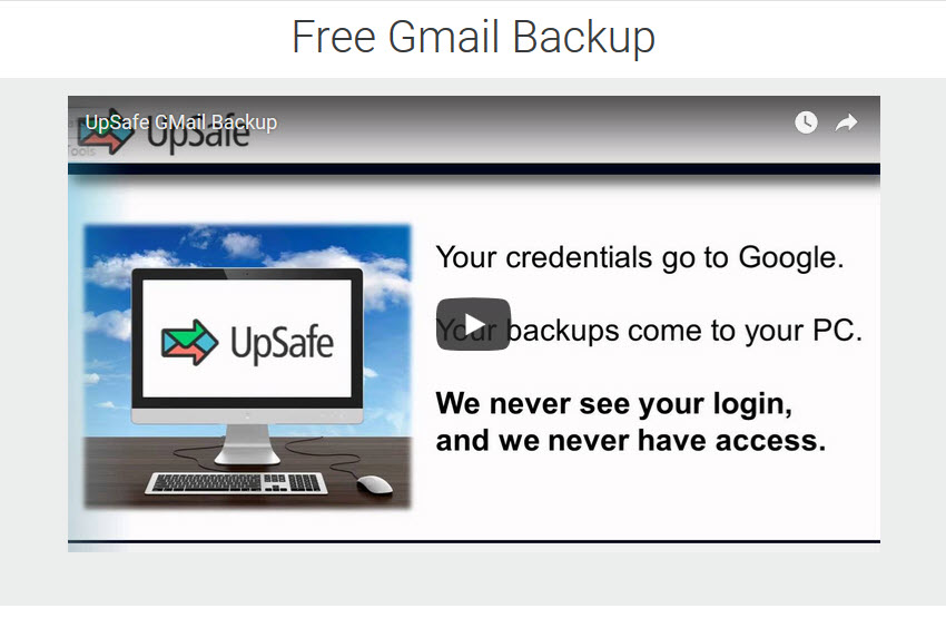 UpSafe Gmail Backup Utility