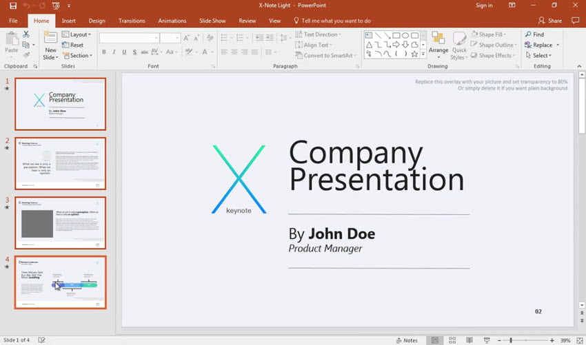 Select PowerPoint Slides to be merged
