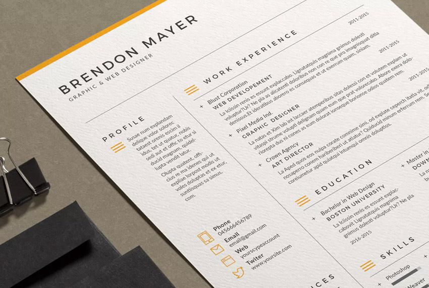 Resume Brendon - Readable Professional Resume