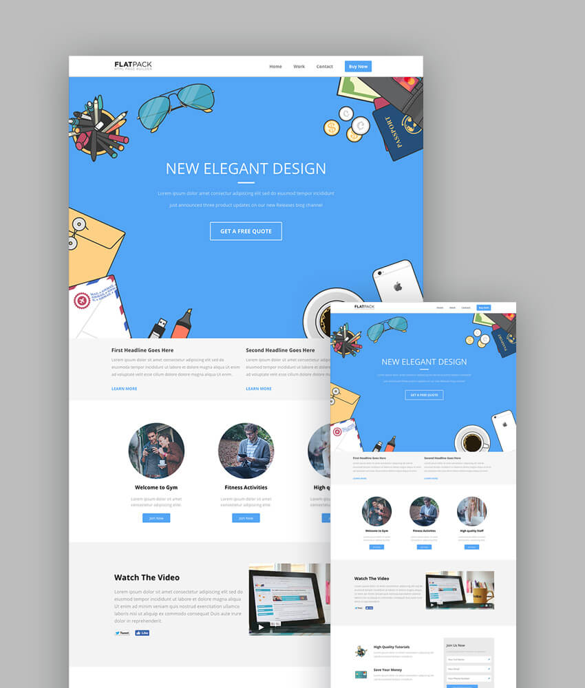 Best Responsive HTML Landing Page Templates - Website splash page templates