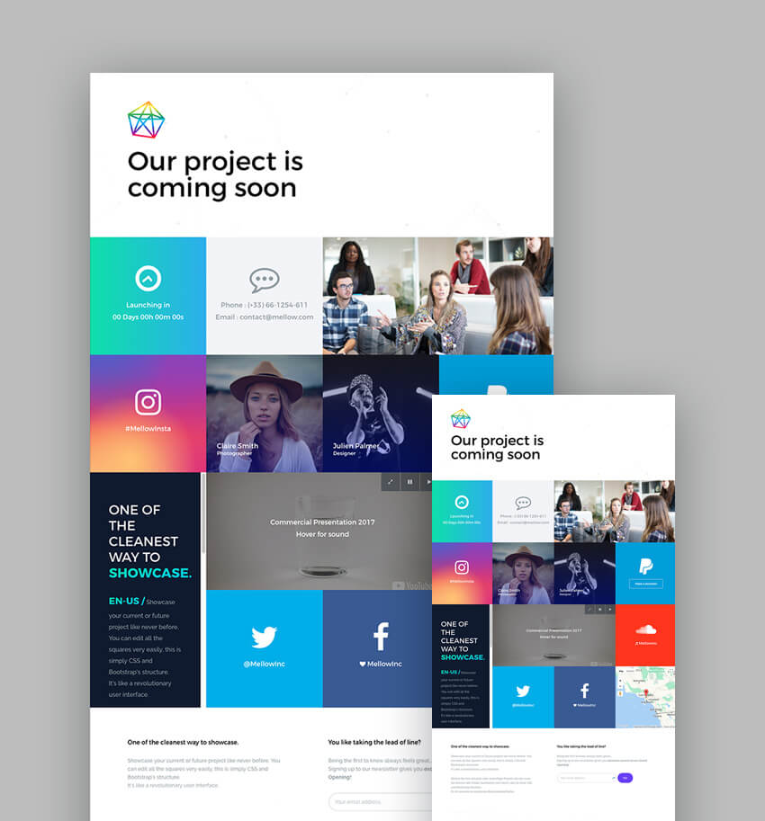 Best Responsive HTML Landing Page Templates - Single page landing page template