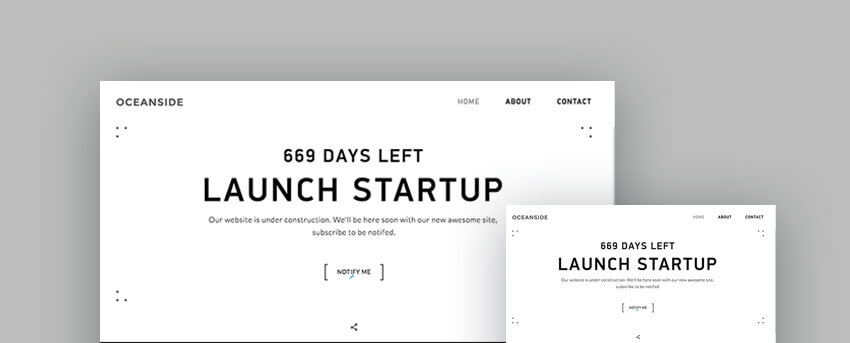 Best Responsive HTML Landing Page Templates - Simple landing page template