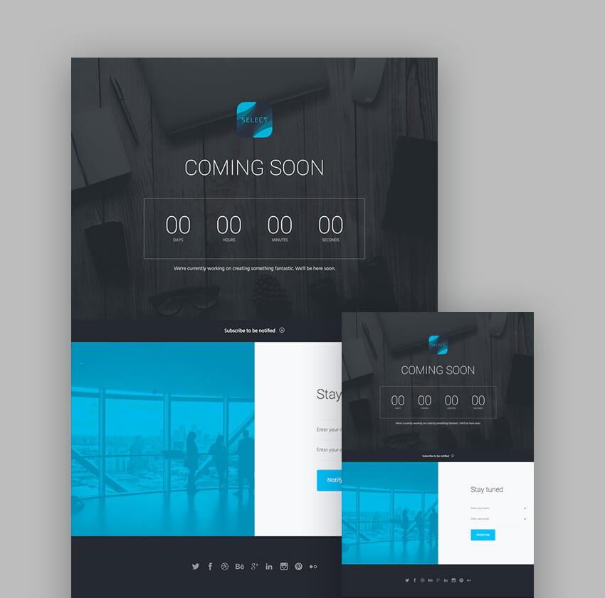 Select Landing Page Template