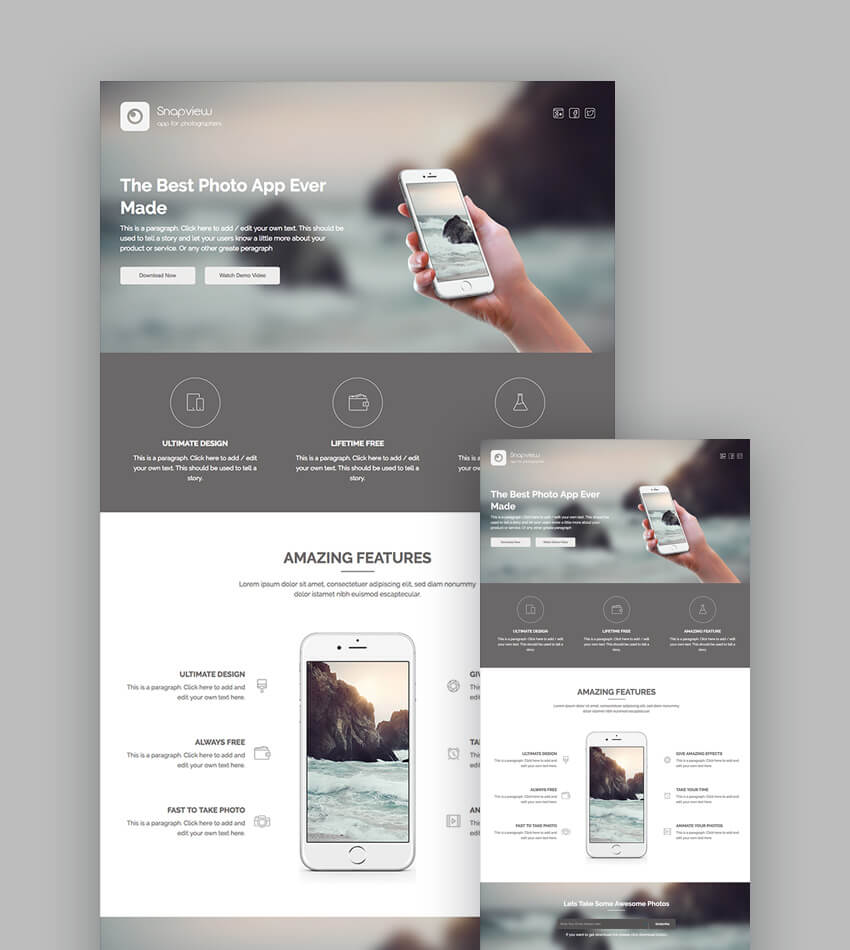 18+ Best Responsive HTML5 Landing Page Templates (2018)