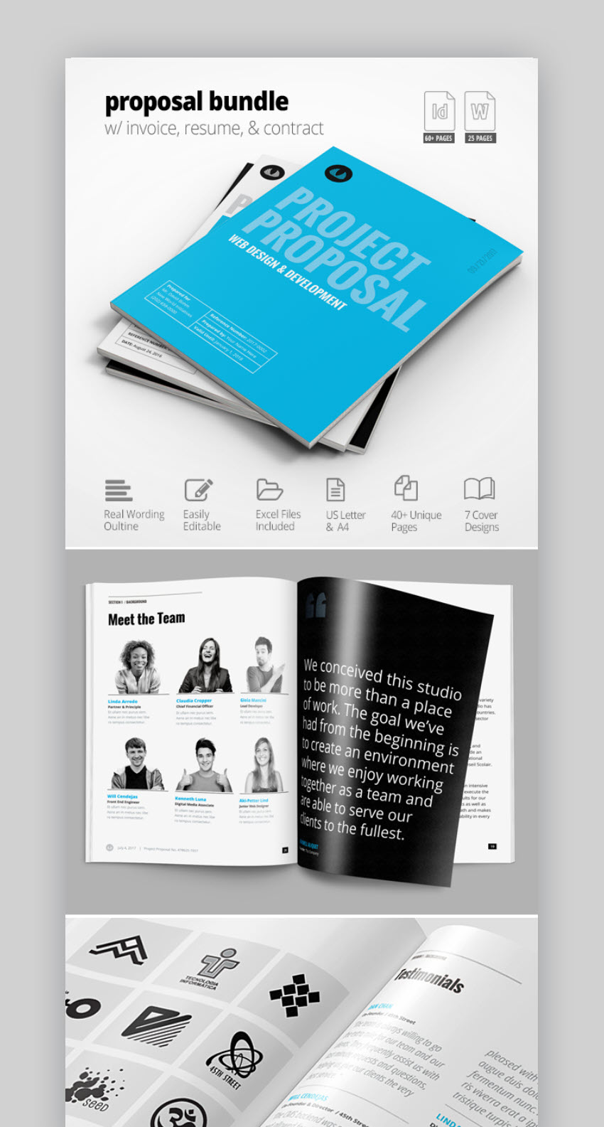 18 professional business project proposal templates for 2018 this is another great project proposal template bundle its full of helpful tools so its also easy to customize and use features include accmission Images