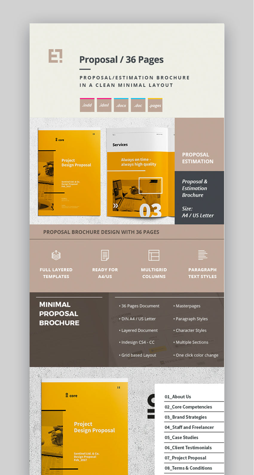Professional Proposal Template   Minimal Design  Proposal Layouts