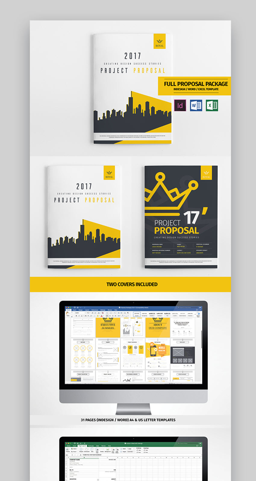 this professional proposal template boasts 31 pages choose from many and varied page designs to get your proposal message across