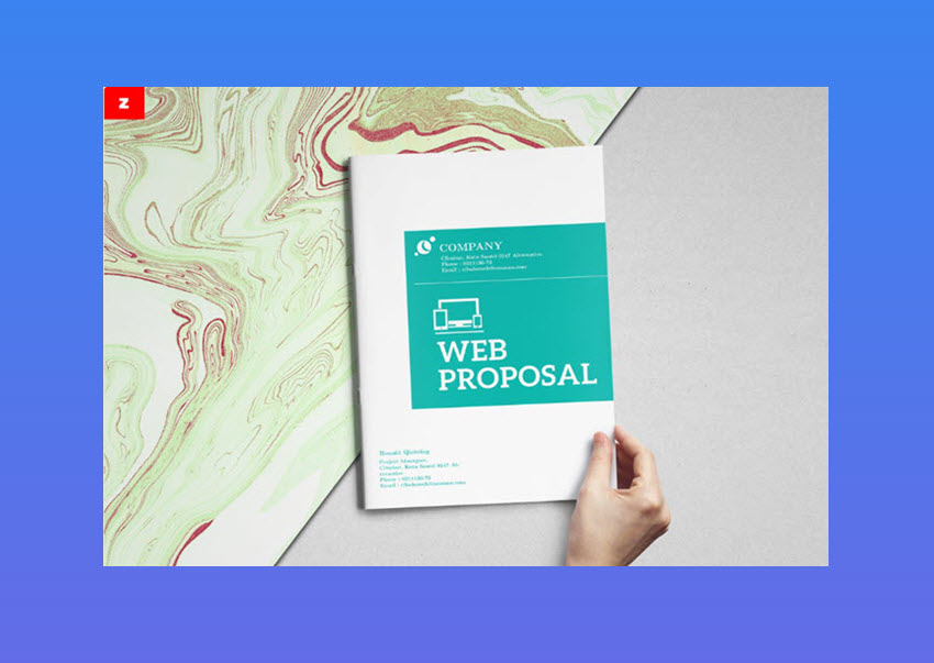 Clean Web Proposal Template   Sleek Modern Design