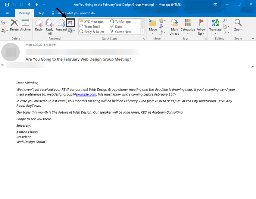 Undangan Meeting Via Email Tulisan