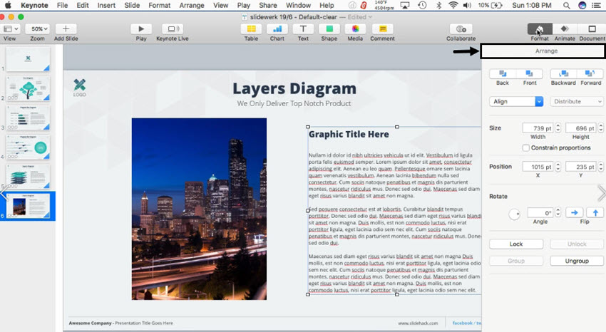 How to Rotate Text & Shapes in Keynote in 60 Seconds