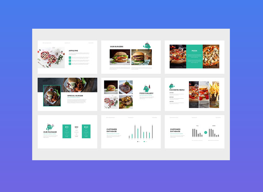 FlatKitchen PowerPoint Presentation Template